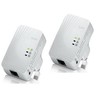 [nova成功3C]ZyXEL合勤 PLA-4201 (雙包裝) 500M電力線上網設備