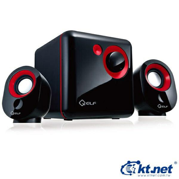[NOVA成功3C]  KTNET Q精靈 紅色 USB 2.1 三件式多媒體喇叭  喔!看呢來
