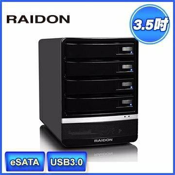 [NOVA成功3C]RAIDON 銳銨 GR5630-SB3 3.5吋 USB3.0/eSATA/ 4bay3.5吋磁碟陣列設備(和順電通) 喔!看呢來