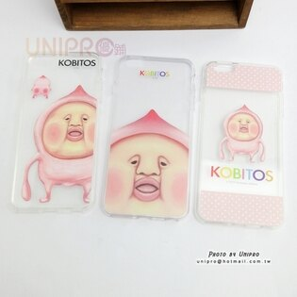 【UNIPRO】iPhone6 6S 5.5 吋 PLUS KOBITOS 醜比頭 屁桃 農場精靈 粉屁桃 屁桃君 TPU透明 手機殼 i6S+ 軟殼
