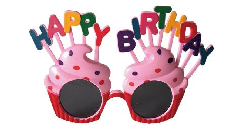 X射線【W414008】生日蛋糕眼鏡,萬聖節/派對/尾牙/表演/角色扮演/面具/舞會/搞怪/蠟燭/春酒/道具/造型眼鏡/慶生/佈置