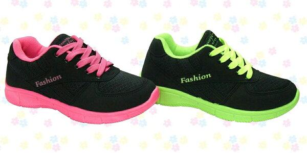 【巷子屋】JIMMY POLO 女款撞色運動慢跑鞋 [18070] 黑桃 黑綠 MIT台灣製造 超值價$388
