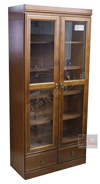 ~尚品傢俱~663~25 博韋 樟木半實木3^~6尺下抽書櫃^~ 中抽書櫃 書櫥 收納櫃