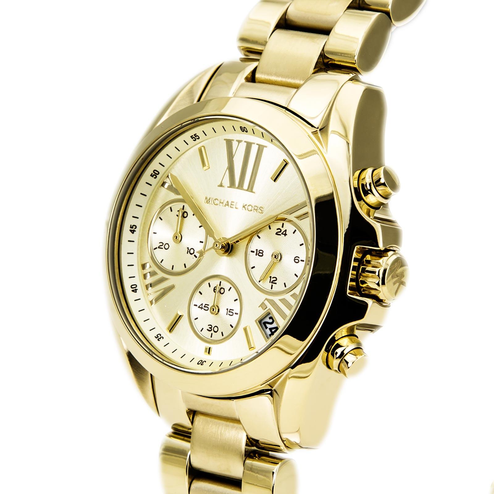 美國Outlet 正品代購 MichaelKors MK 金色熱吻巴黎三環計時手錶腕錶 MK5798 3