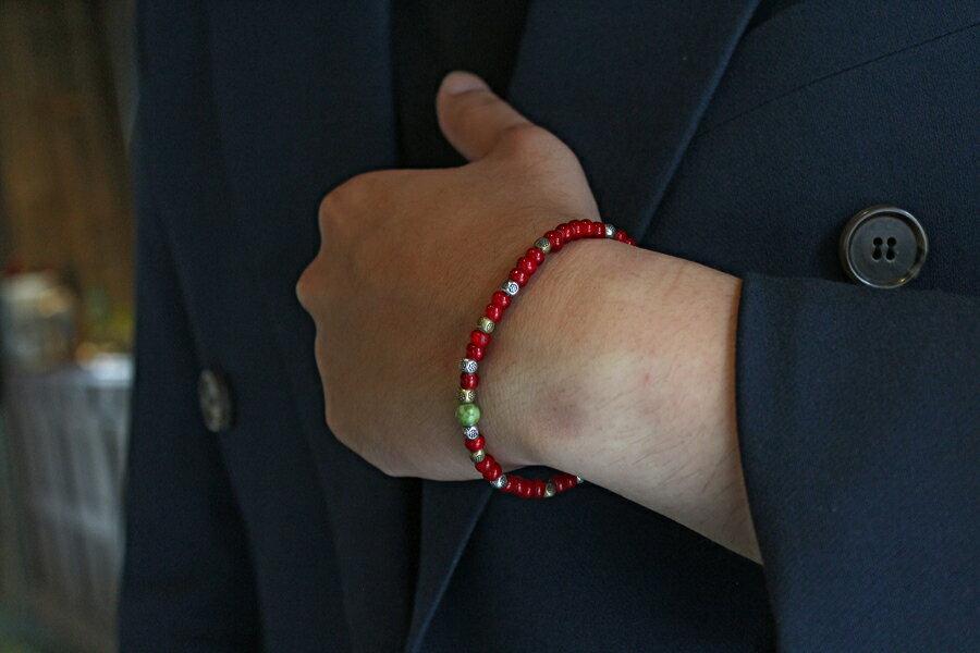 【現貨商品】【M.Cohen】土耳其熱帶串珠手環 (MC-B-10289-MIX-RED 0839600201) 2