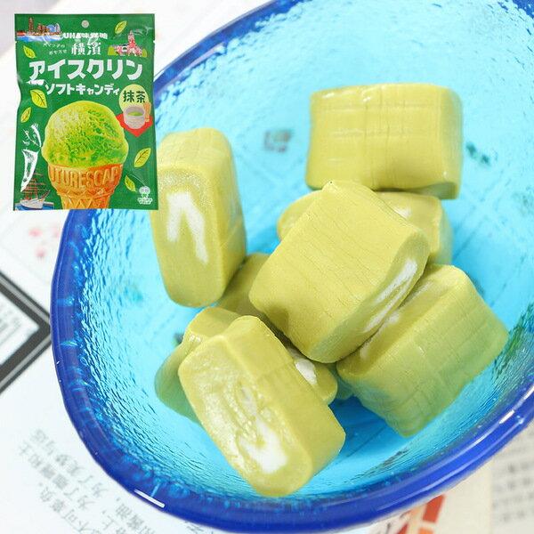有樂町進口食品 UHA味覺糖 冰淇淋抹茶糖90g J62 4902750846432 4