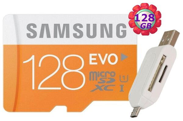 附T05 OTG讀卡機 SAMSUNG 128GB 128G microSDXC【EVO 48MB/s】micro SD SDXC microSD UHS-I UHS U1 C10 原廠包裝 手機記憶卡 記憶卡