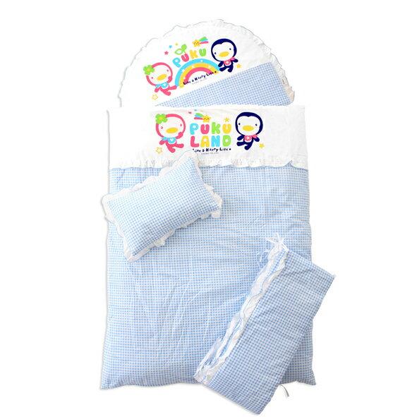 『121婦嬰用品館』PUKU 小藍七件式寢具組 - 藍 0
