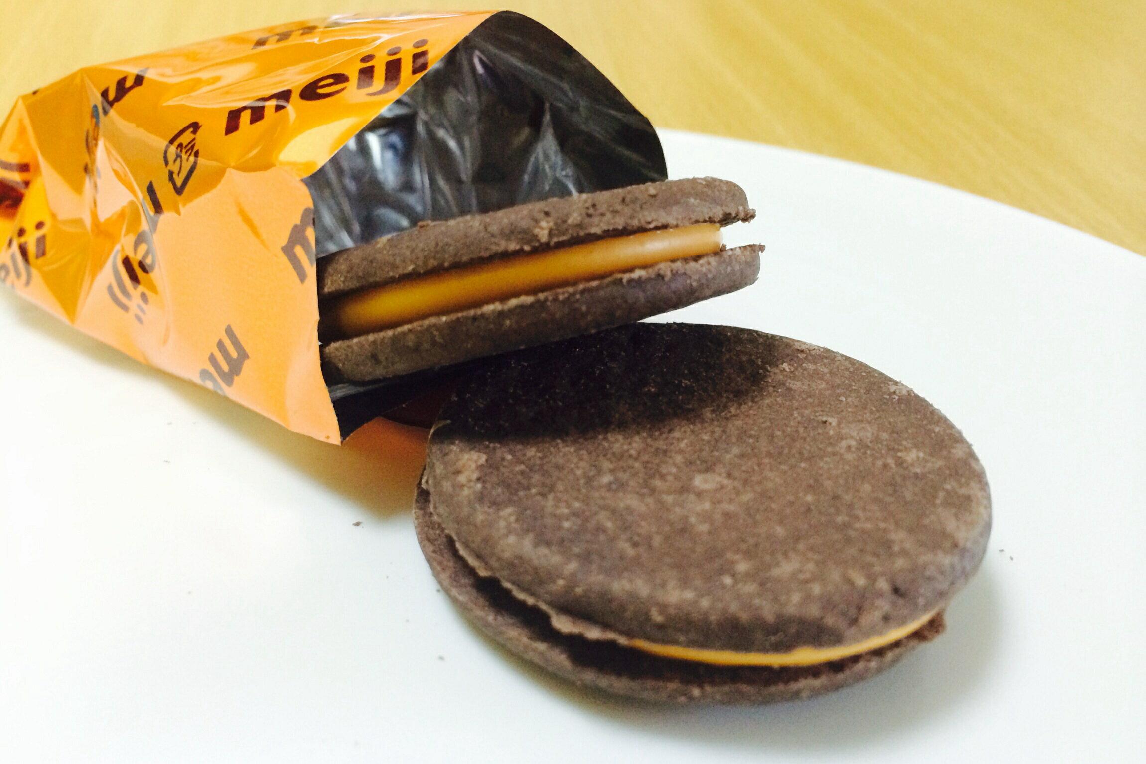 有樂町進口食品 日本明治Rich香橙餅乾 (96g)  J65 4902777224954 2