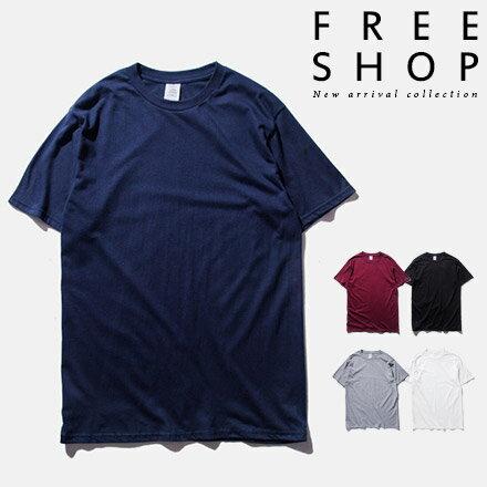 短T Free Shop【QFSIN035】潮流色系百搭素T圓領100%純棉質無縫圓筒T短T短袖上衣潮T 情侶款 有大尺碼