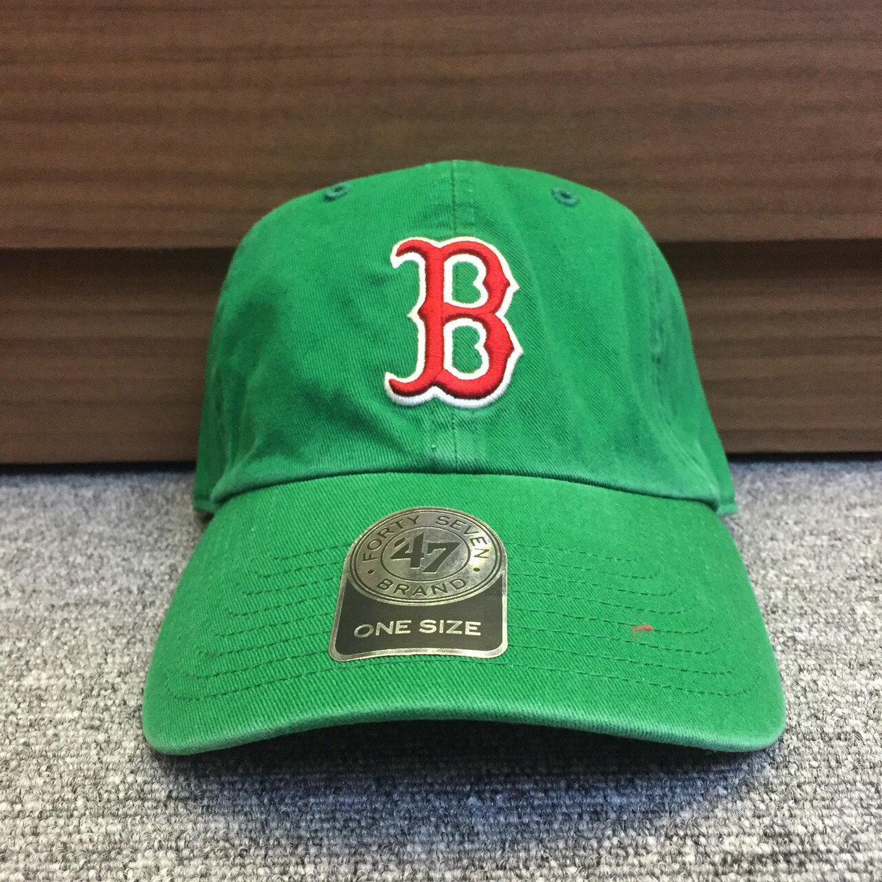 BEETLE 47 BRAND 老帽 波士頓紅襪 BOSTON RED SOX DAD 大聯盟 MLB 全綠 紅字 MN-410 0