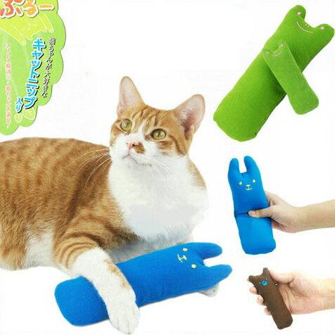 【小樂寵】卡通造型貓薄荷拇指玩具/小抱枕