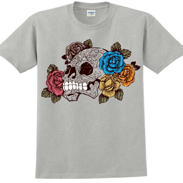 新創設計師- T恤:【盛開與凋零】修身短袖 T-shirt ( 麻灰 ) 850 Collections