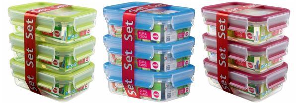 【德國EMSA】3D保鮮盒3件組0.55L PP 藍(514586)/粉(517418)/綠(517419) 特價$530 柯以柔 30年保固