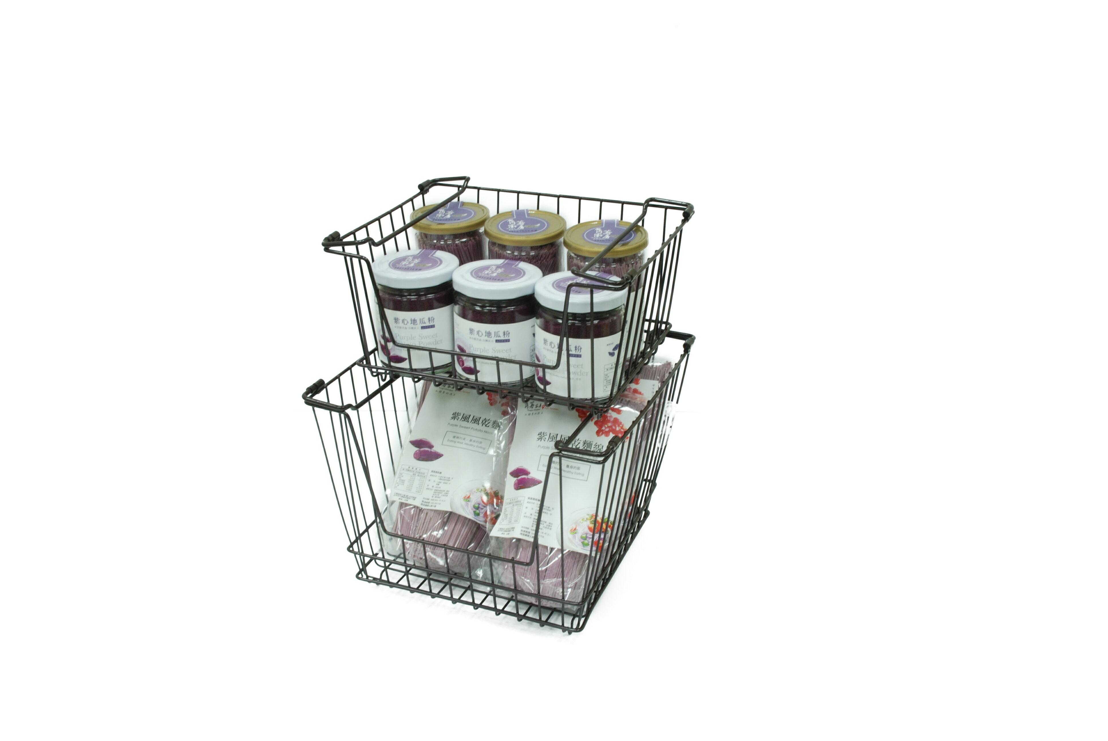 【凱樂絲】媽咪好幫手堆疊收納籃  一組三入促銷價899 - 自由DIY 空間利用 透氣通風, 客廳, 廚房, 衣櫃適用 5