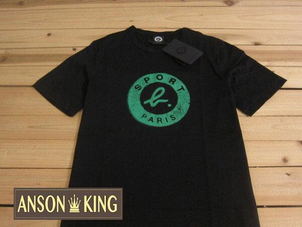 [Anson king]outlet國外代購 agnes b.sport b 綠影 短袖 圓領 男款 T恤 黑