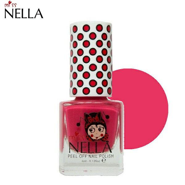 【安琪兒】英國【Miss Nella】水溶性無毒指甲油 -草莓紅 0