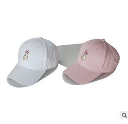50%OFF【E015529H】韓國ulzzang愛心手指棒球帽子簡約彎簷鴨舌帽夏天遮陽帽男女
