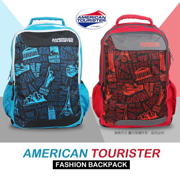 《熊熊先生》Samsonite 美國旅行者 Code 美式塗鴉後背包 多隔層 大容量 休閒旅遊包 雙肩包 00S006