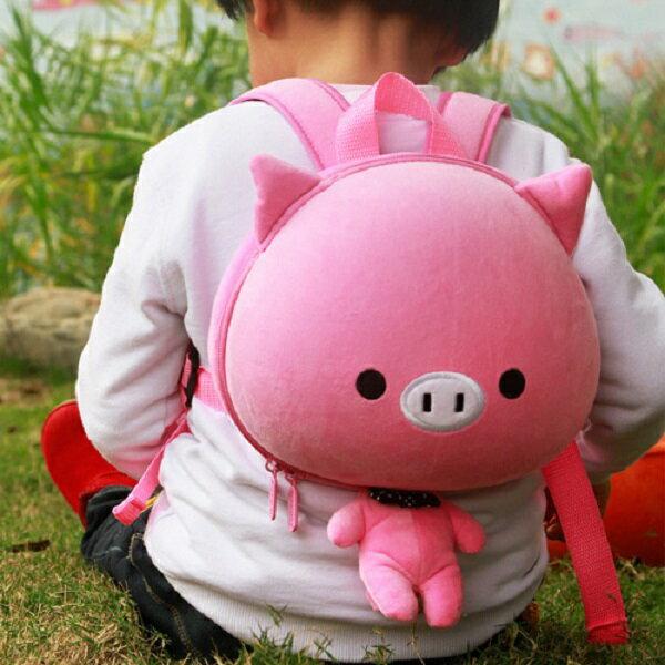 香港【Supercute】動物造型後背包 - 粉小豬 0