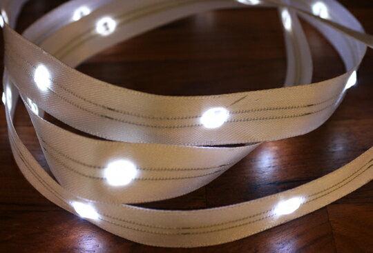 LiTex LED寬版緞帶15mm-白燈系列-中間燈(12色緞帶可選擇) 1