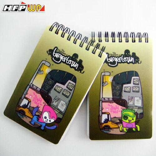 HFPWP  Burgertown 名 師口袋型筆記本100張內頁附索引尺BTN3351~