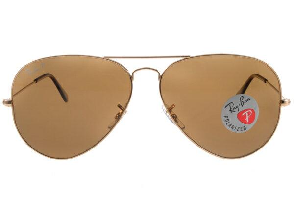 Ray Ban 雷朋 金邊茶色偏光 RB3025 太陽眼鏡 3
