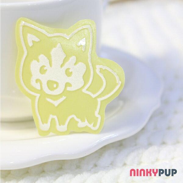 [寵物貼紙] 反光貼紙  萌犬哈士奇 4.2*4cm