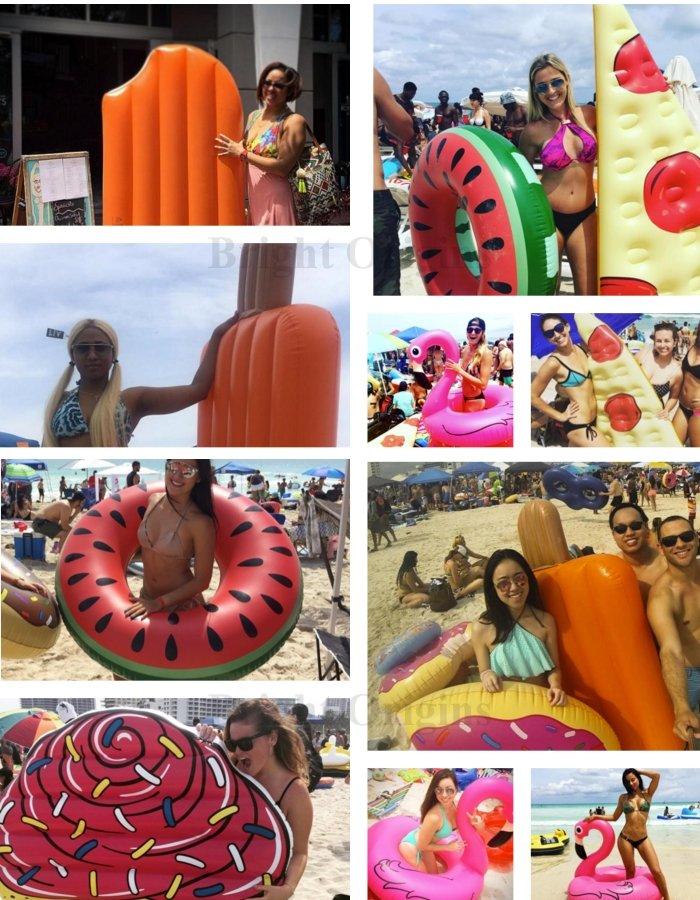 【美國BIGMOUTH】造型泳圈 巧克力甜甜圈款 ((團購省運費)) 4