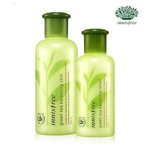 韓國 innisfree 綠茶保濕化妝水200mL/綠茶保濕乳液160mL【AN SHOP】