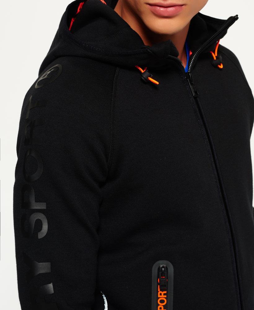 [男款] 英國名品 代購 極度乾燥 Superdry Gym Tech Panel 拉鍊運動男士戶外休閒連帽外套 黑色 3