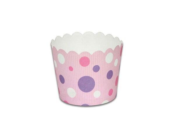 瑪芬杯、杯子蛋糕、烘烤紙杯 MF5040-11 粉底彩點(50pcs/包)
