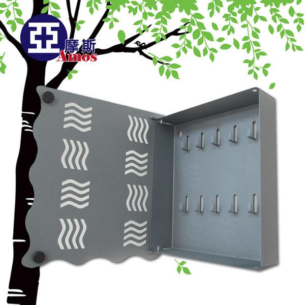 ^( ^) 壁掛式工業風鐵板鑰匙盒 磨砂處理防刮 家居鑰匙掛鉤收納盒 掛勾 磁鐵閉合MIT