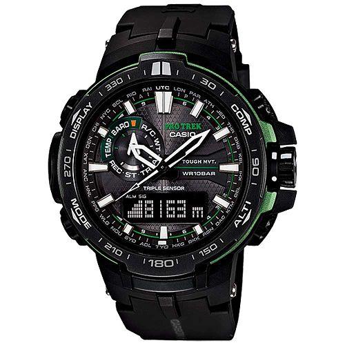 CASIO PROTREK PRW-6000Y-1ADR旗艦專業登山雙顯電波腕錶/52mm