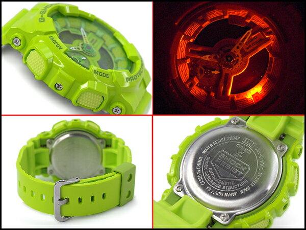 國外代購 CASIO G-SHOCK 摩登翠綠  GMA-110CC-3A   防水 手錶 腕錶 電子錶 男女錶 4