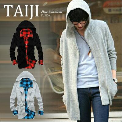 針織衫【NTJ5488】日韓風格?素面舒適簡約口袋V領連帽針織衫?二色?素面/百搭/英倫