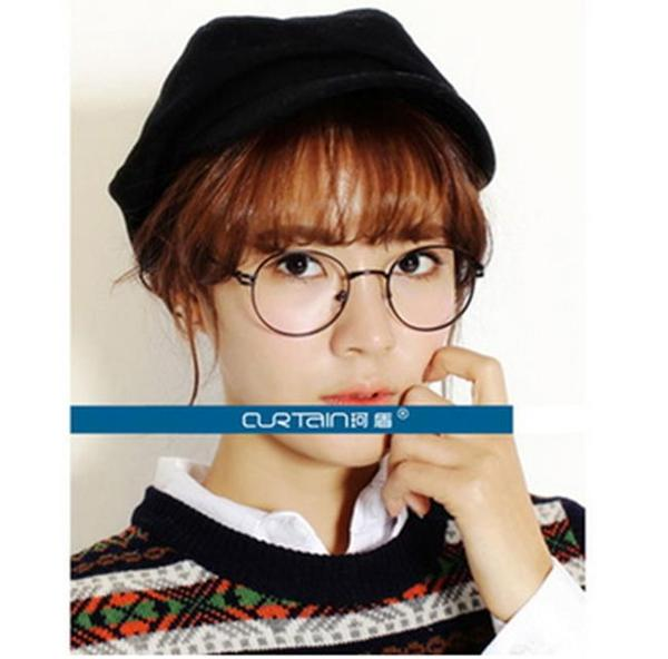 50%OFF【J011438Gls】韓版金屬細邊框眼鏡框 圓形女款文藝範潮男士眼鏡架眼鏡框架附眼鏡盒