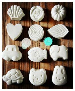 動小羊^^可愛兔子,魚,汽車,貝殼,熊矽膠模具 果凍 巧克力模具 布丁模具 手工皂模具 製冰盒 餅乾模具 烘焙模具