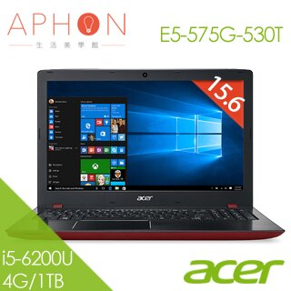 【Aphon生活美學館】ACER E5-575G-530T 15.6吋 Win10 2G獨顯 筆電(i5-6200U/4G/1T)-送4G記憶體(需自行安裝)+USB小桌扇