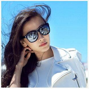 50%OFF【J011455Gls】跑男楊穎baby同款太陽鏡5090潮復古T字韓版墨鏡男女太陽眼鏡附眼鏡盒