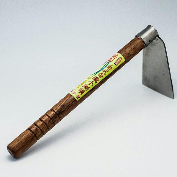 {九聯百貨} 農神 園藝工具鋤 台式白鐵小鋤頭 (附九層柄) 1入 (ns-8418)
