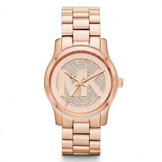 美國Outlet正品代購 MichaelKors MK 陶瓷 水鑽 三環 手錶 腕錶 MK5853 0
