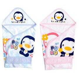 PUKU藍色企鵝 - 春夏單層包巾(藍/粉) 0
