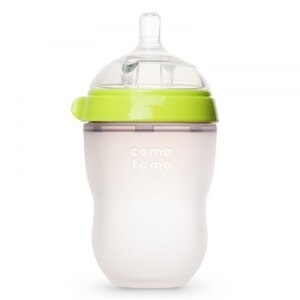 韓國【Comotomo】矽膠奶瓶 250ML-1入裝(綠)  0