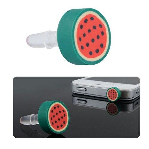 Tapón Antipolvo Sandia Diseño Universal para Conexión de Auriculares (Jack 3,5mm) de Smartphone y Tablet  0
