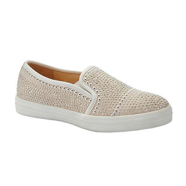 2MUCH華麗水鑽真皮休閒鞋-白色(35-40)