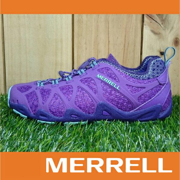 MERRELL AQUATERRA 水陸涼拖鞋 女款 快乾溯溪 兩棲登山健行鞋 抓地大底 紫色