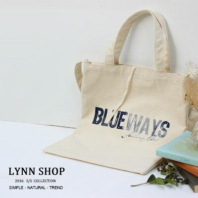[滿688現折$88] 帆布包 多款手提單肩帆布包 -字母BLUEWAY【BA-8032】LYNNSHOP