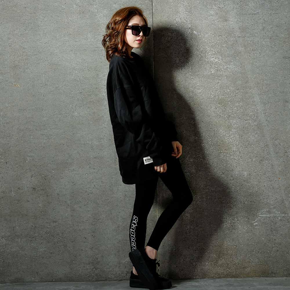 STAGE CREW LEGGING 黑色 單色 ~  好康折扣