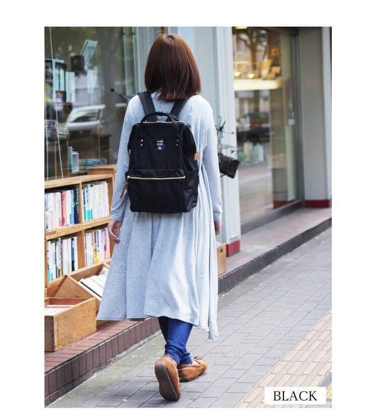 【日本anello】ANELLO 雙肩後背包 《大號》- 黑色 1